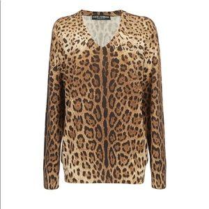 🐆 Dolce & Gabbana cashmere v-neck sweater